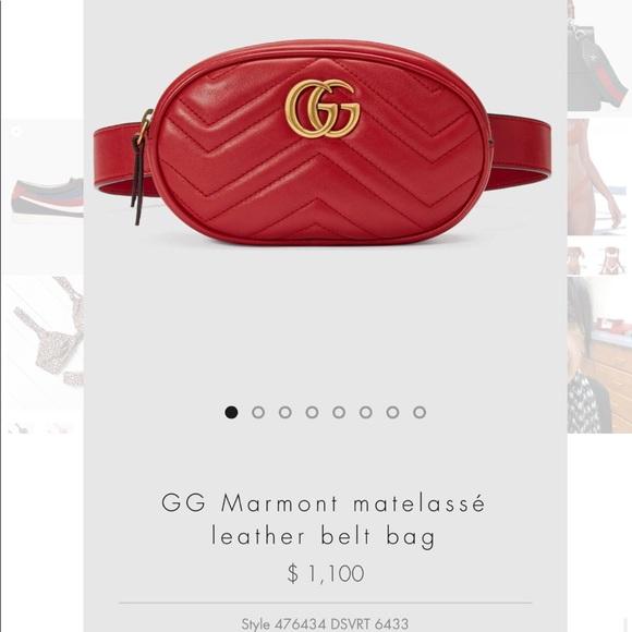4b887a3dee5d Gucci Bags   Gg Marmont Matelasse Leather Belt Bag   Poshmark